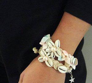 Boho schelpen armband set