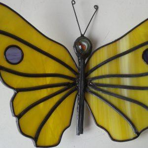 Vlinder glas in lood