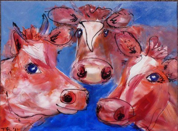 Gekke koeien rood