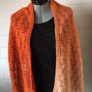 Stola sjaal, oranje