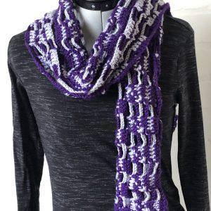 Paars grijze sjaal