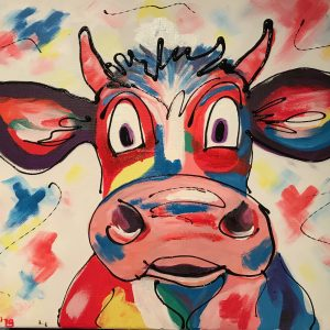Kleurrijke koe