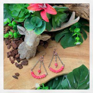 Fensi Jewelry Boutique earrings chandeliers pink