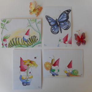 Set kaarten De Neusjes insecten
