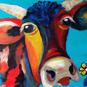 Gekke Kleurrijke koe