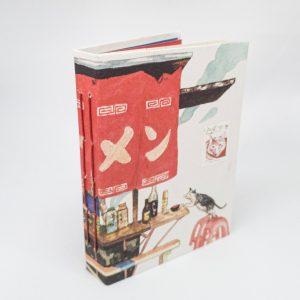 Notitieboekje-boekje-handgebonden-rood-studiocooliejoelie
