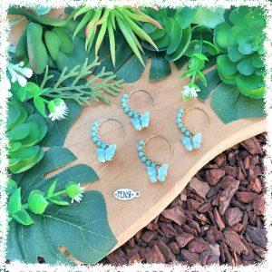 fensi jewelry boutique wirewrap earrings beige nude czech beads oorbellen sieraden fancy butterfly vlinder
