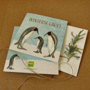 Winterse groet - Pinguins