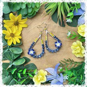 Shop tropical style earrings @ Fensi jewelry boutique. Handmade by fenneke Smouter fancy sieraden oorbellen fashionista vintage charms