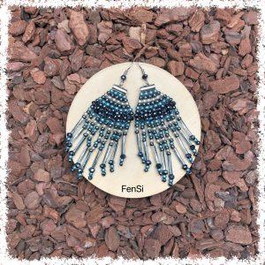 Shop statement fringe earrings @ Fensi jewelry boutique. Handmade by fenneke Smouter fancy sieraden oorbellen fashionista miyuki beads