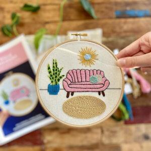 Junglembroidery borduurkit modern planten woonkamer DIY creatieve hobby