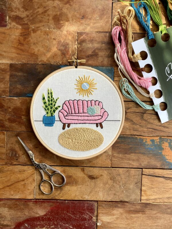 Junglembroidery embroidery kit contemporary design