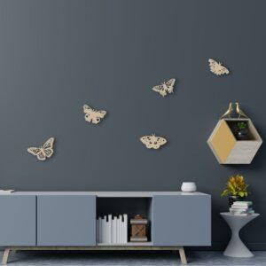 houten vlinders muurdecoratie