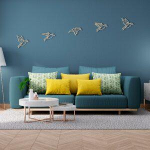 houten vogels muurdecoratie