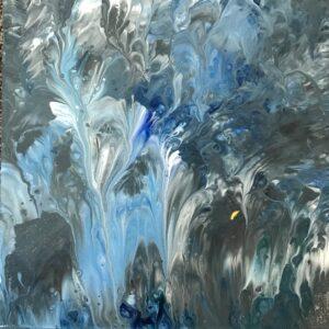 Veren acrylschilderijtje 20 x 20 cm