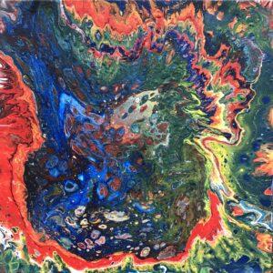 Circle of Life acrylschilderij 30 x 30 cm