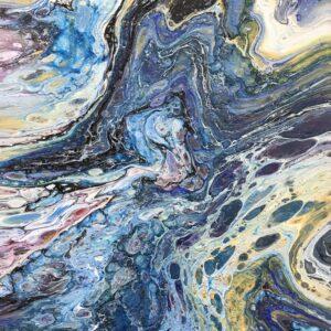 Golddigger acrylschilderij 30 x 40 cm