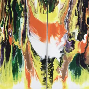 Tweeluik Groenlo acrylschilderijen 2x 30x 40 cm