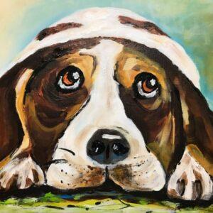 acrylschilderij Beagle