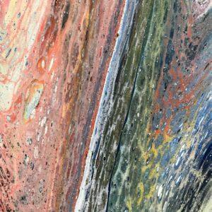 Rainbow acrylwerken 24 x 30 cm