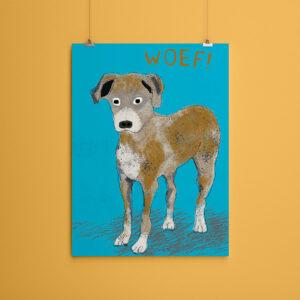 Miniposter A5 Hond