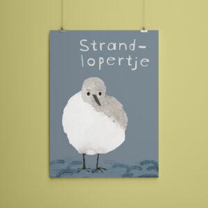 Miniposter A5 Strandlopertje
