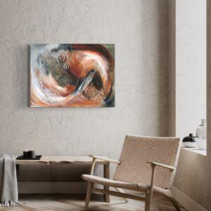 Abstract In beweging acrylschilderij 80 x 60 cm door Thea