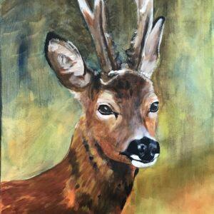 Ree acrylschilderij 50 x 40 cm door Thea