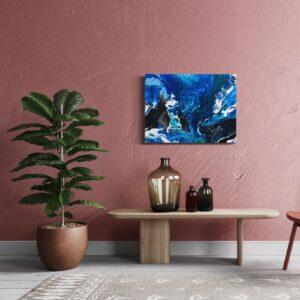 Ocean acryl pouring schilderij 60 x 80 cm
