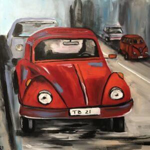 VW Kever acrylschilderij 40 x 50 cm