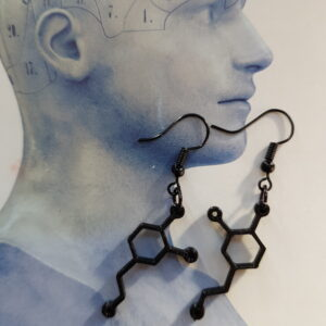 Dopamine molecule oorbel